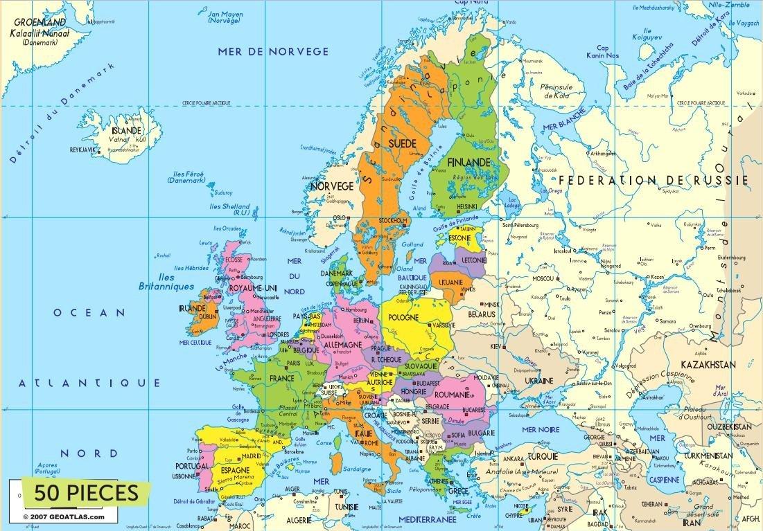 Carte D'europe 50 Pièces serapportantà Carte Europe Enfant