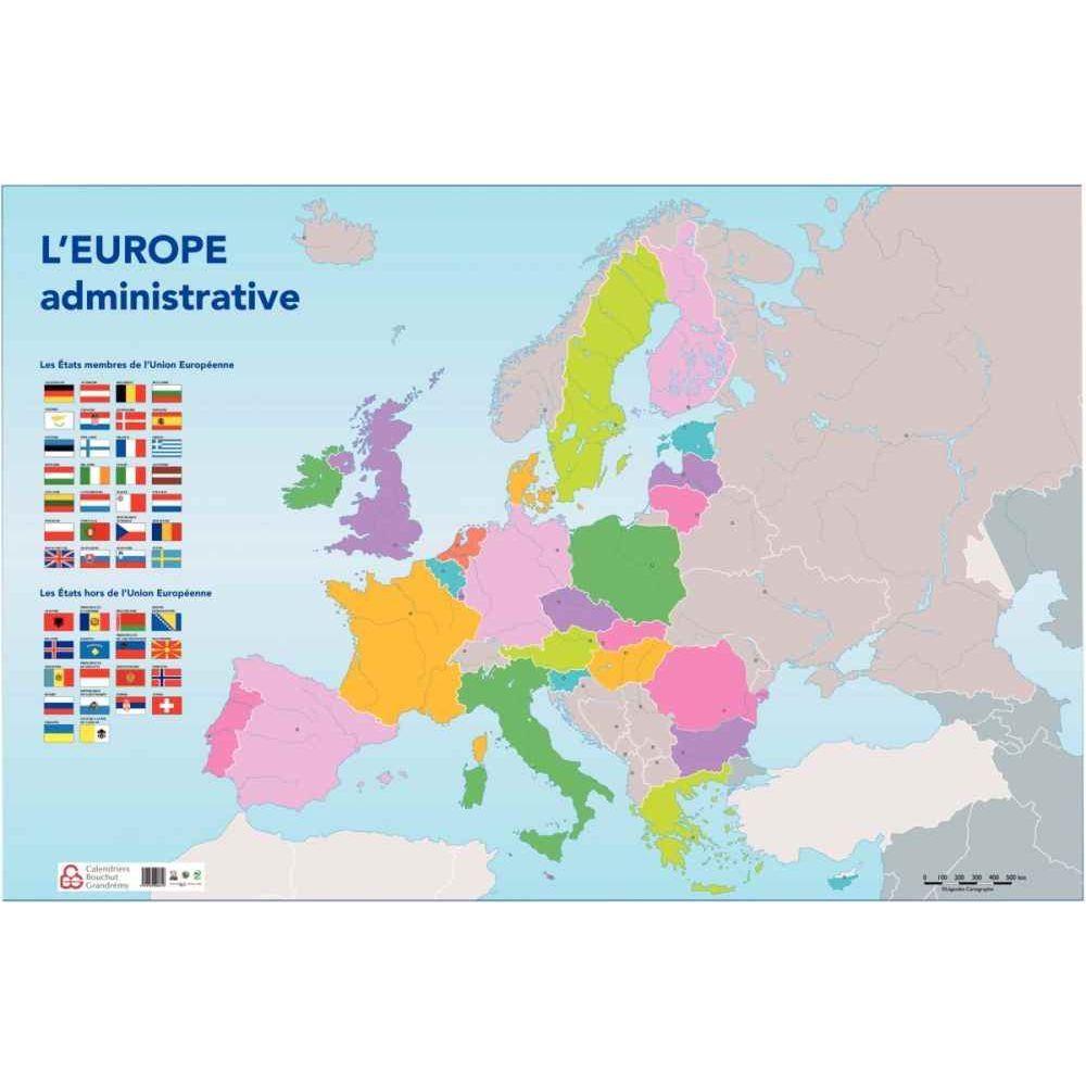 Carte D'europe Administrative120X80Cm intérieur Carte Géographique De L Europe