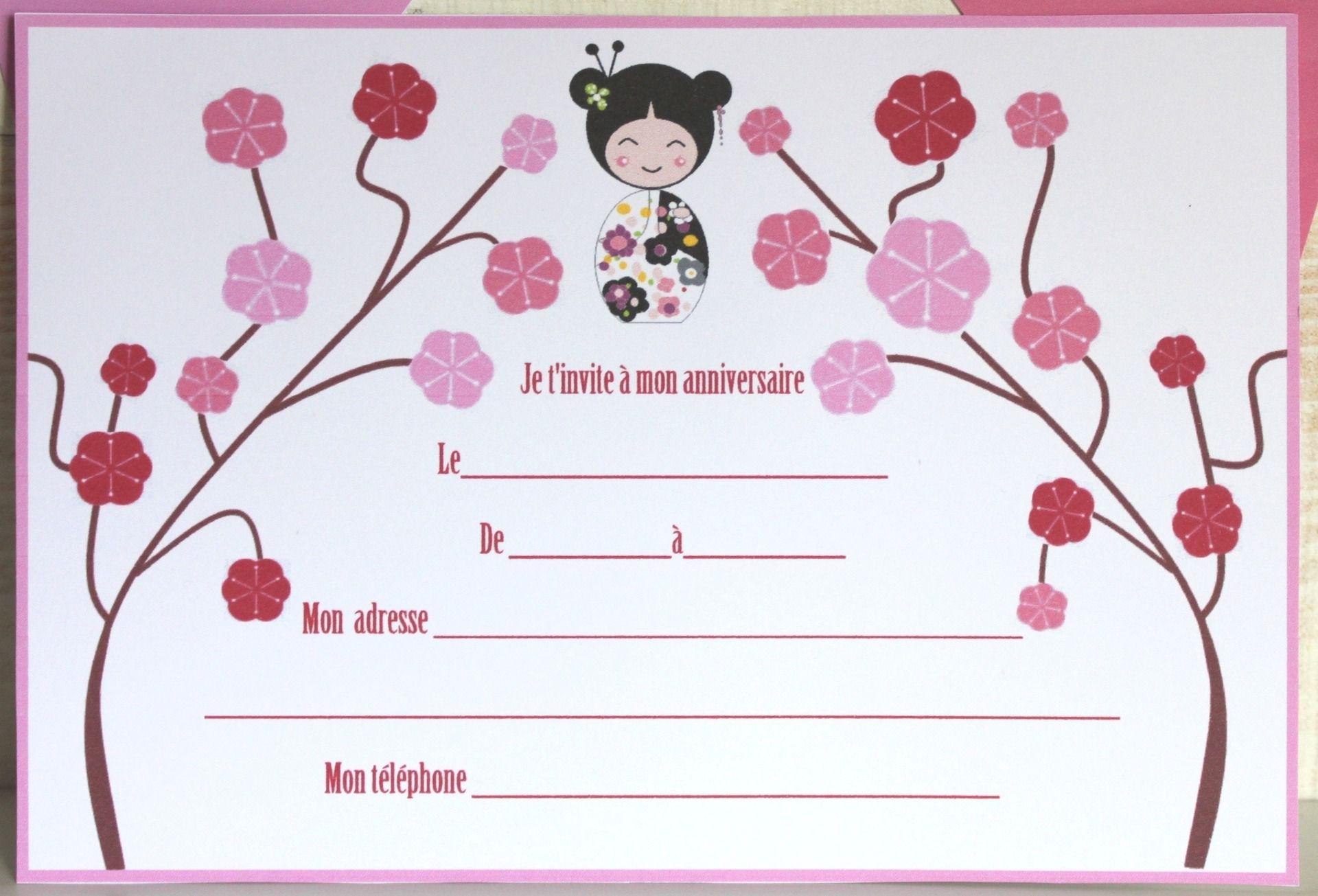 Carte D'invitation Anniversaire Pour Fille De 10 Ans Gratuit à Gratuit Pour Fille