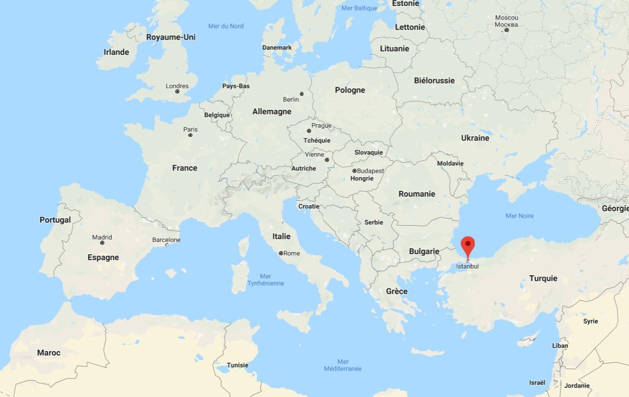 Carte D'istanbul - Plusieurs Cartes De Cette Ville destiné Carte D Europe Avec Pays