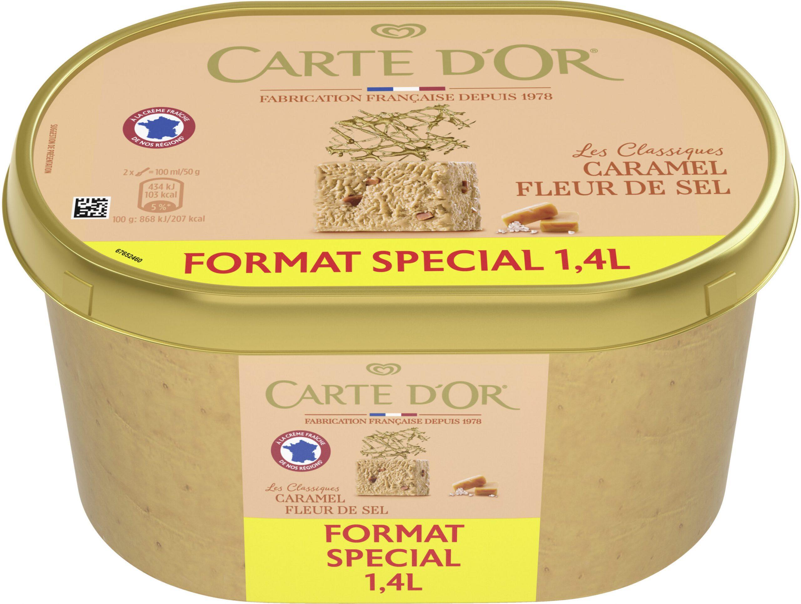 Carte D'or Les Authentiques Glace Caramel Fleur De Sel concernant Carte De Fra