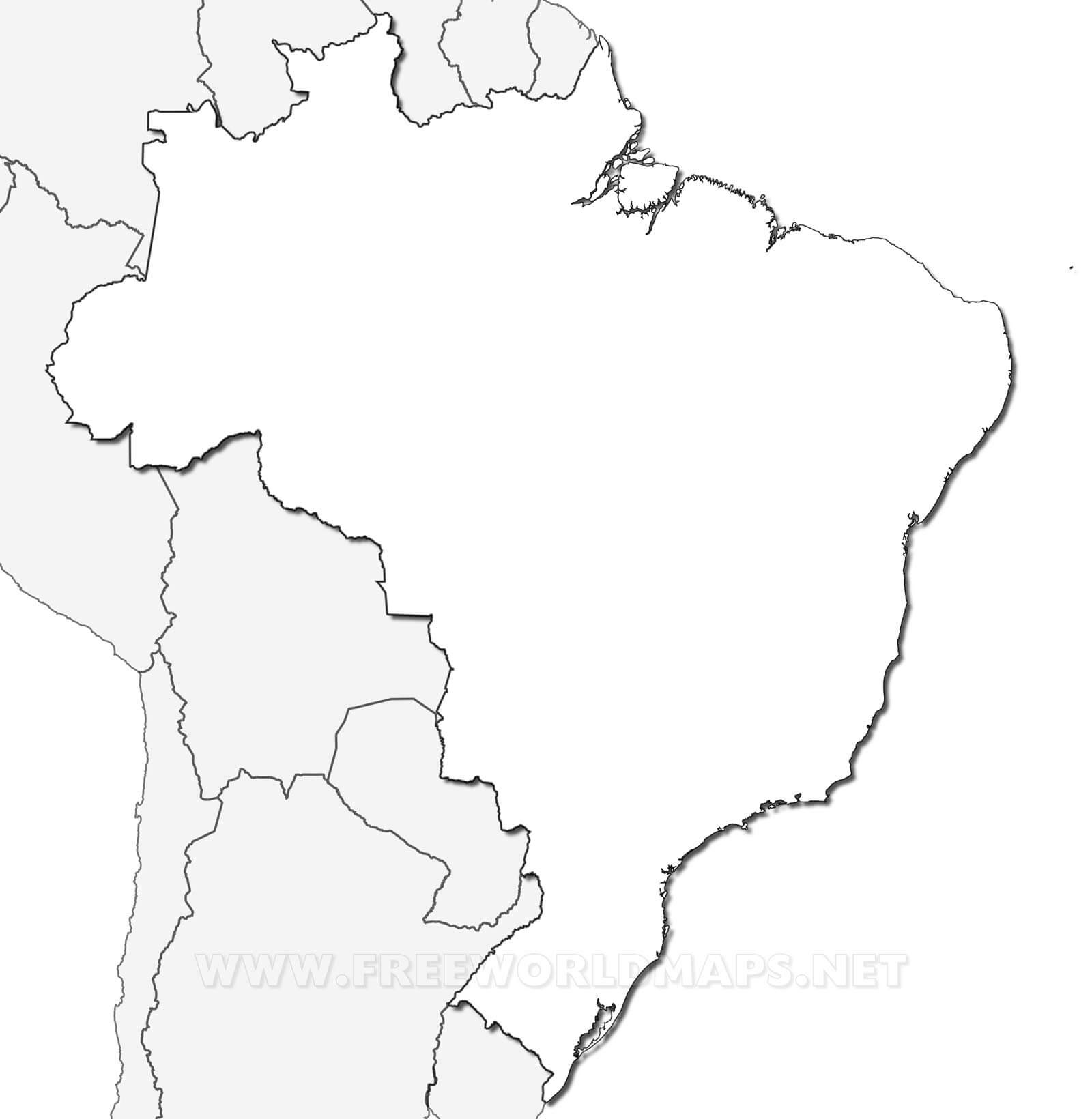 Carte Du Brésil dedans Carte Des Régions Vierge