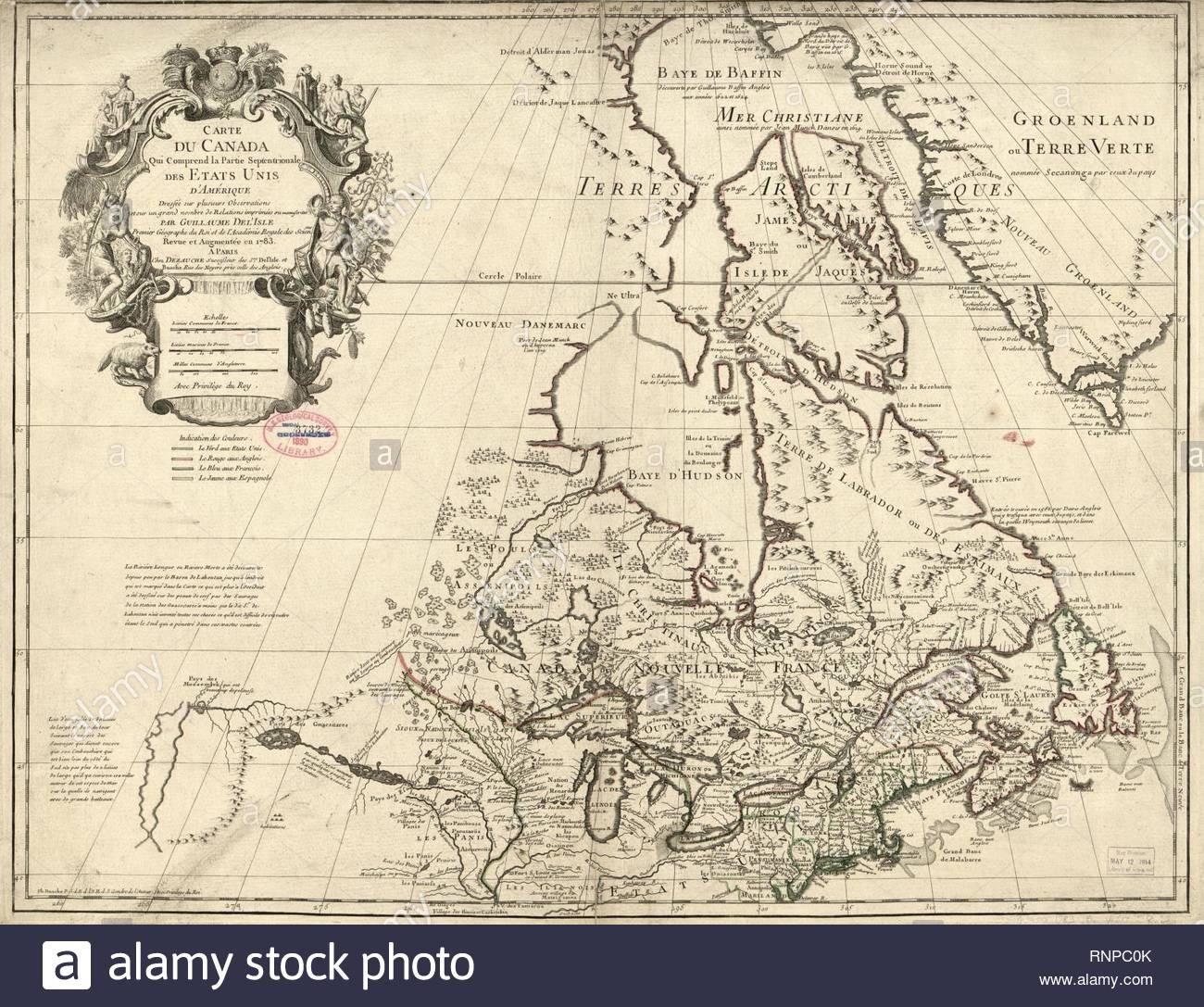 Carte Du Canada Qui Comprend La Partie Septentrionale Des serapportantà Carte Etat Amerique