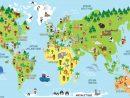 Carte Du Monde, Animaux, Monuments Et Enfants Des Différents dedans Cahier De Vacances Maternelle À Imprimer