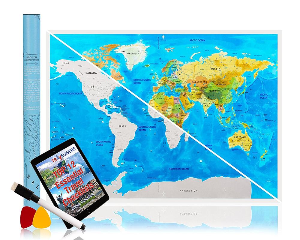 Carte Du Monde Aventure Grattez La Carte Et Explorez Le encequiconcerne Carte Du Monde Pour Enfant