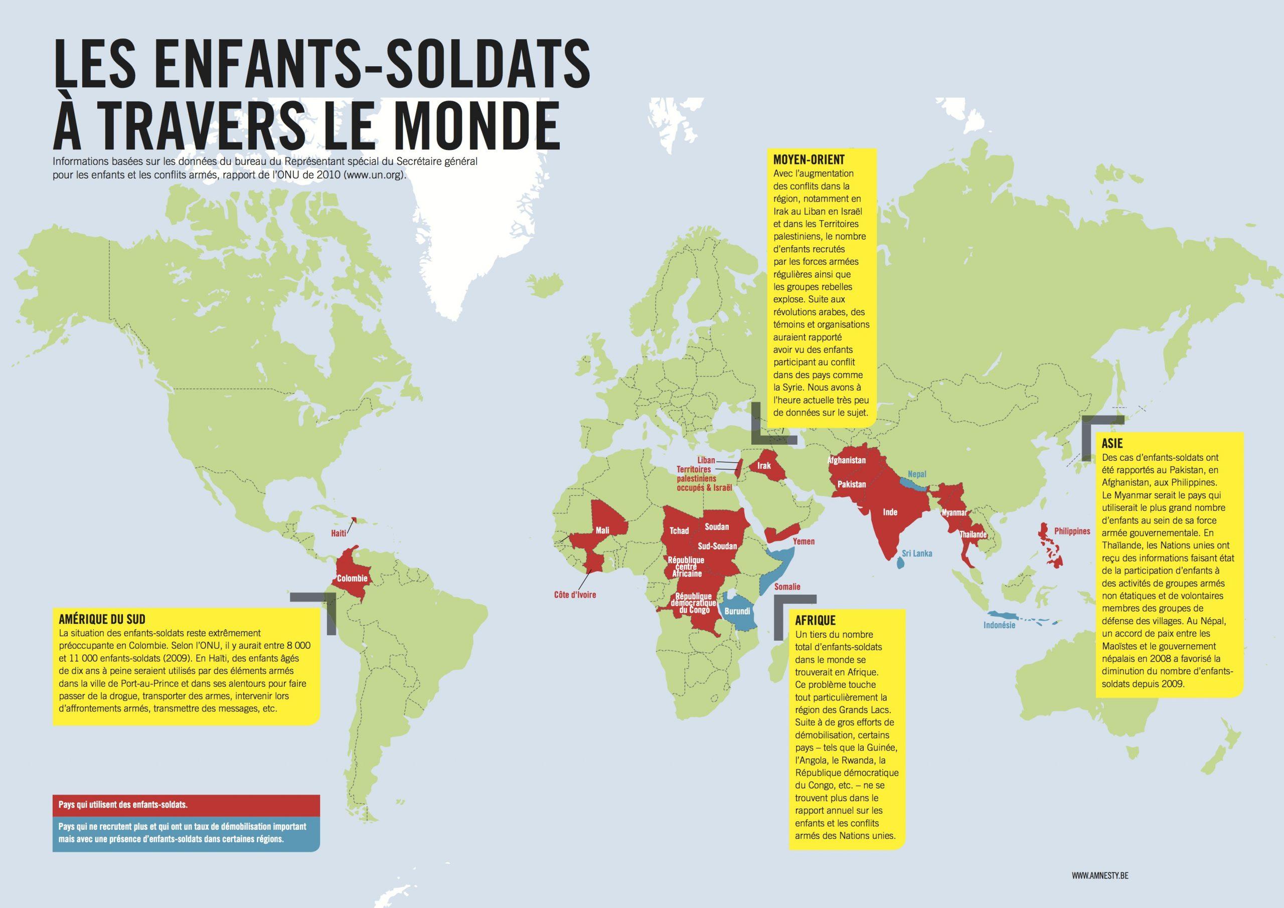 Carte Du Monde Des Enfants Soldats | Cpe Et Vie Scolaire intérieur Carte Du Monde Pour Enfant