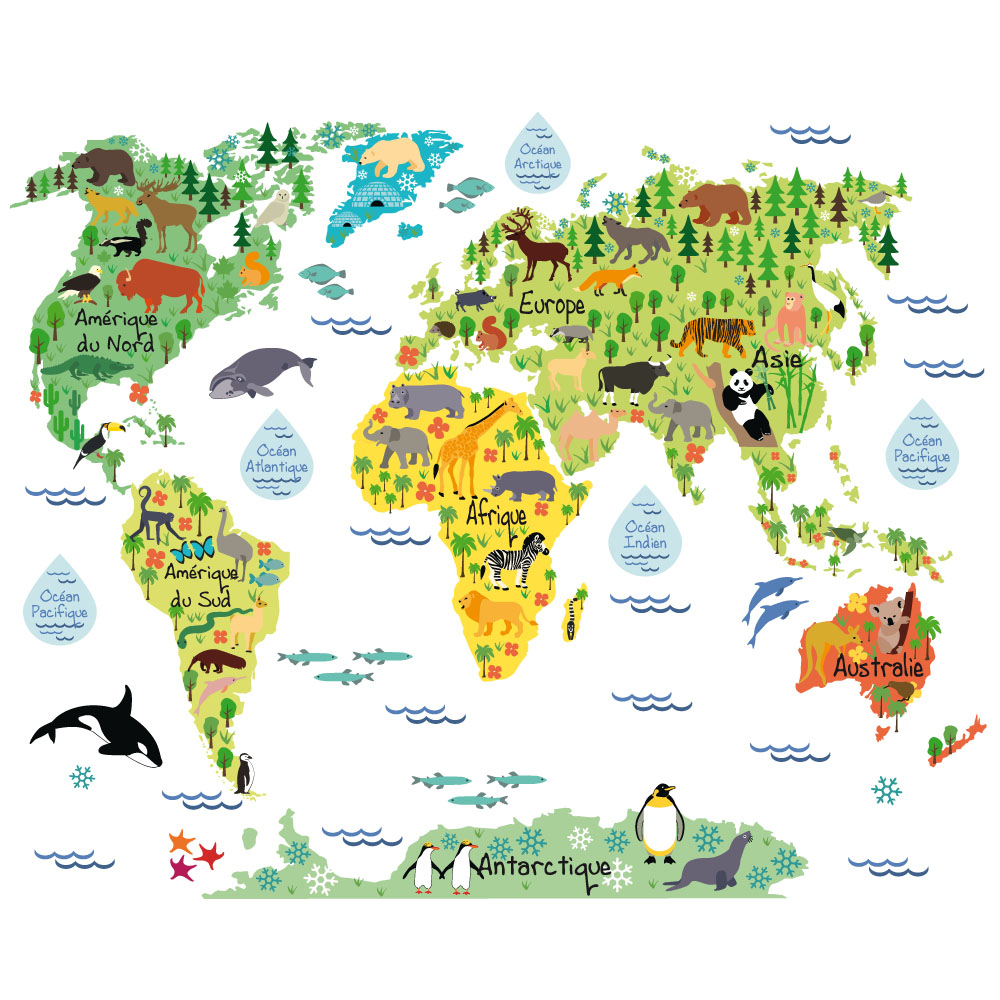 Carte Du Monde Enfant (C0122) concernant Carte Europe Enfant