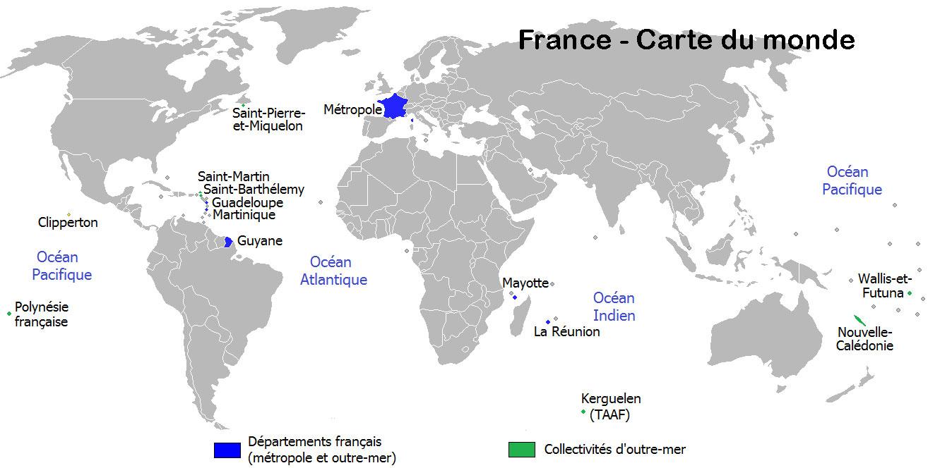 Carte Du Monde France - Voyages - Cartes pour Mappe De France