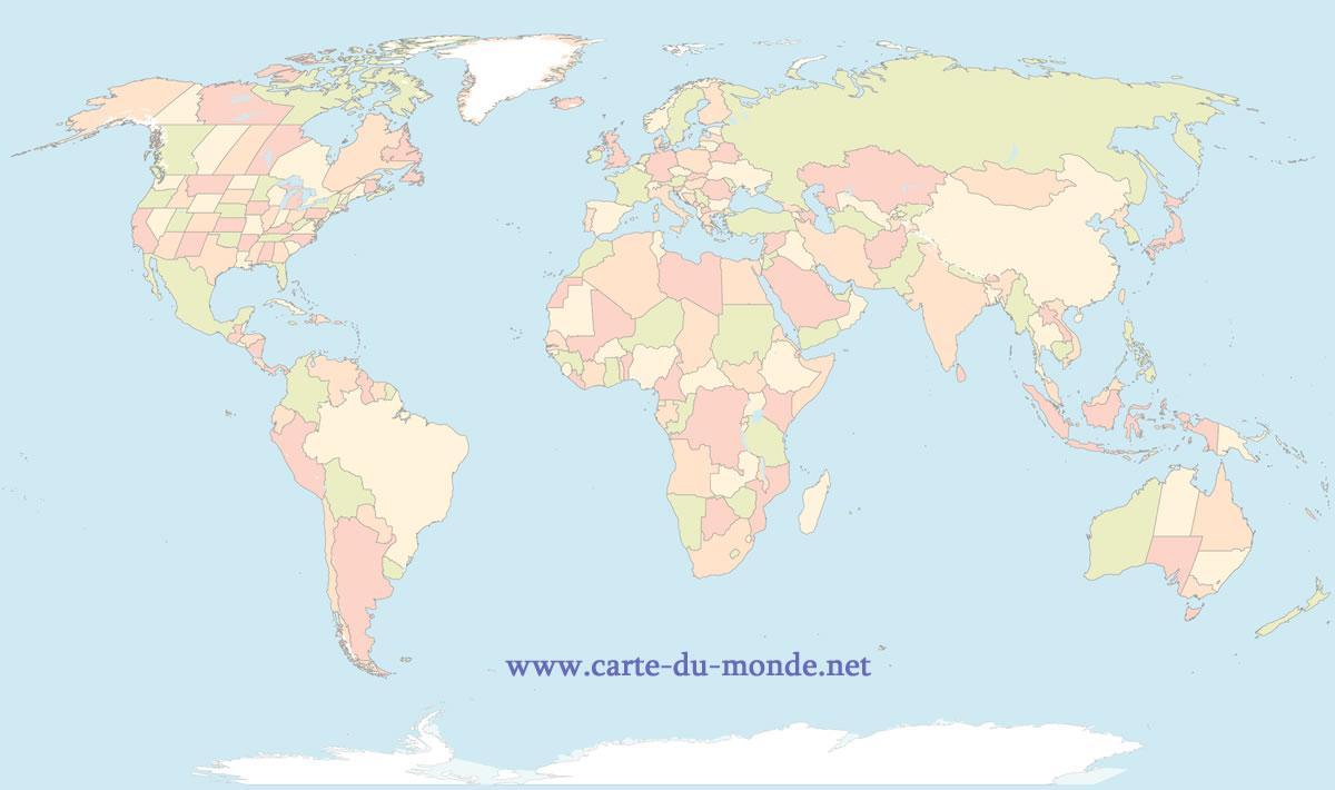Carte Du Monde Gratuite, Carte Du Monde tout Petite Carte De France A Imprimer