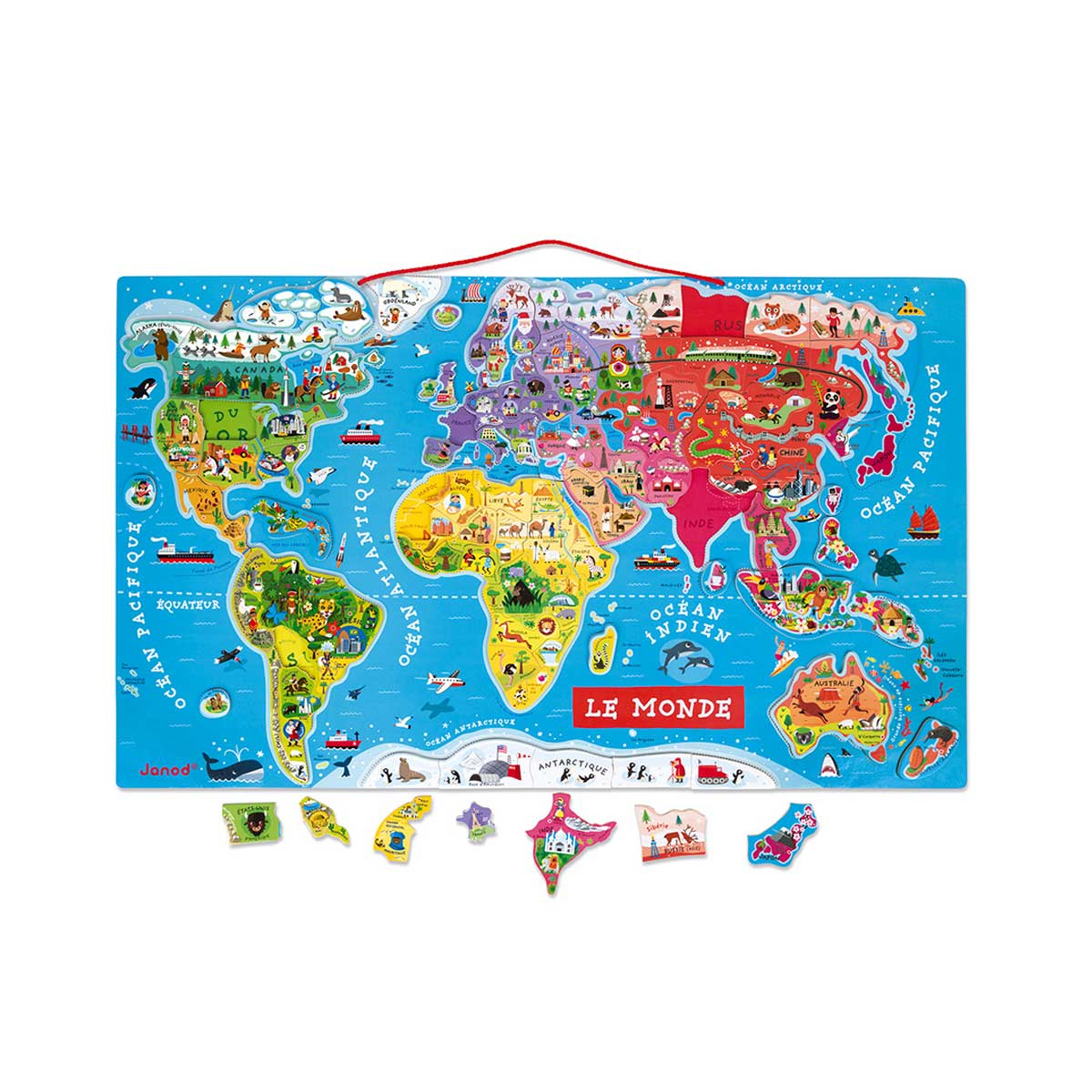 Carte Du Monde Magnétique pour Puzzle En Ligne Enfant
