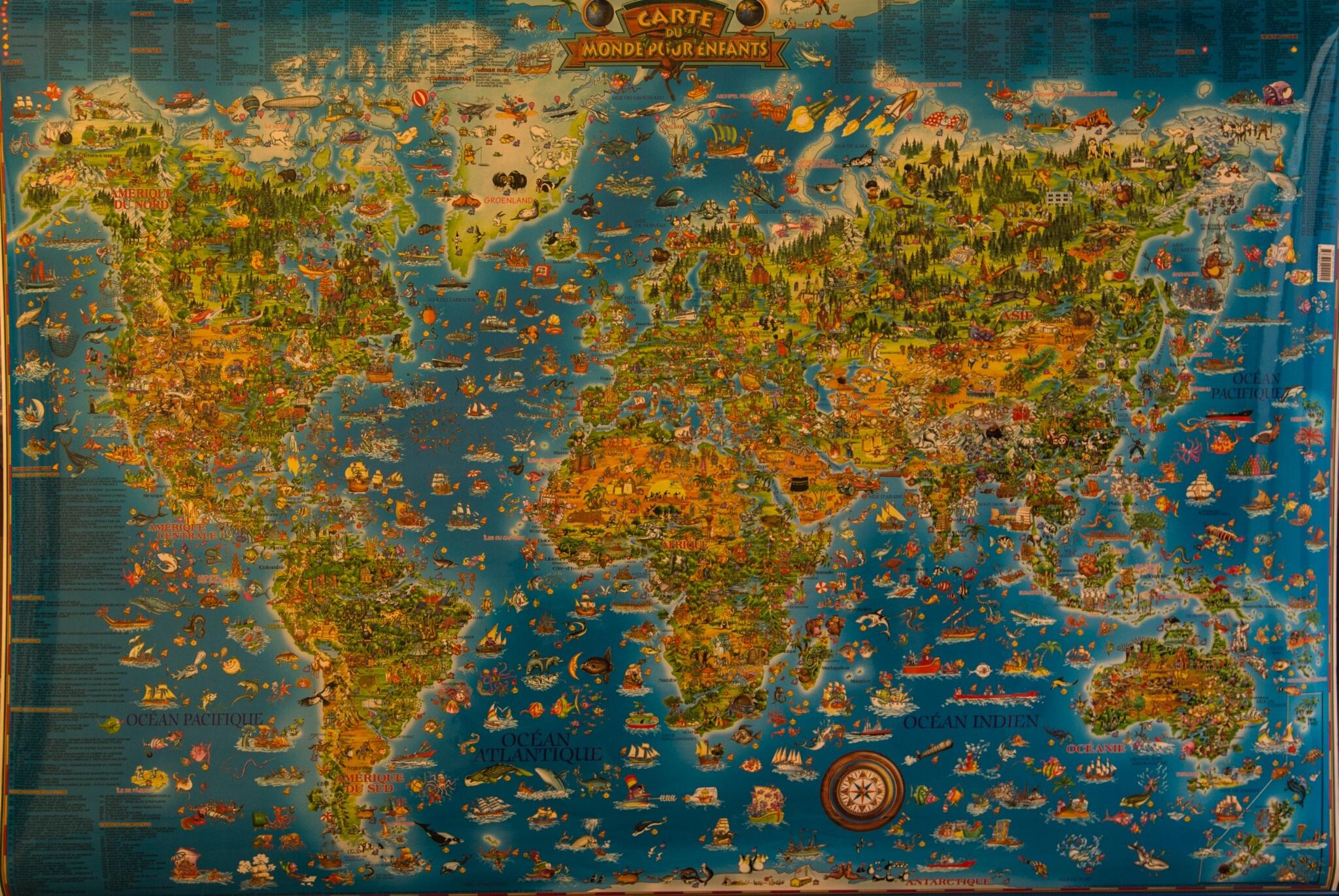 Carte Du Monde Pour Enfants avec Carte Du Monde Enfant