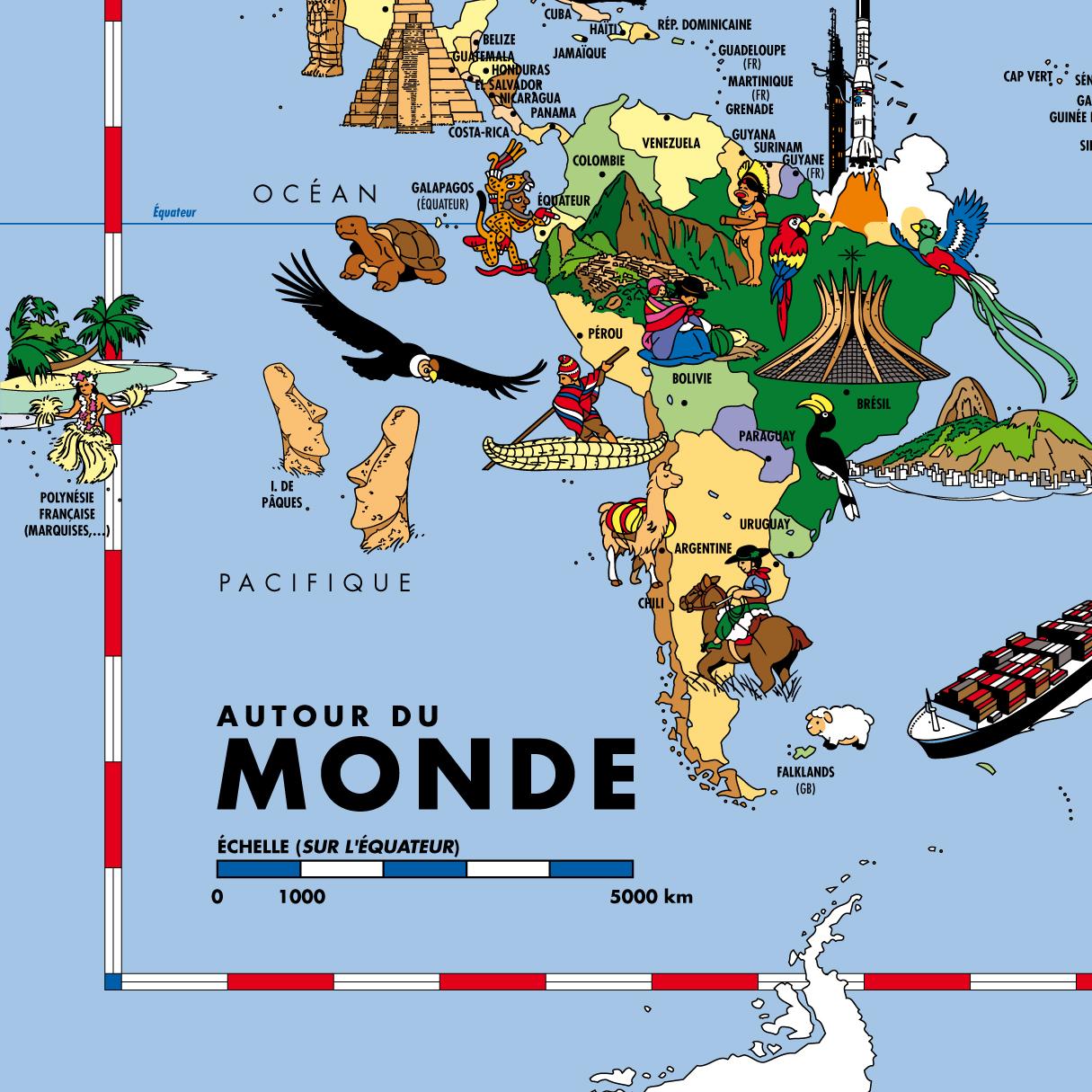 Carte Du Monde Pour Enfants - Détails 1 destiné Carte Du Monde Enfant