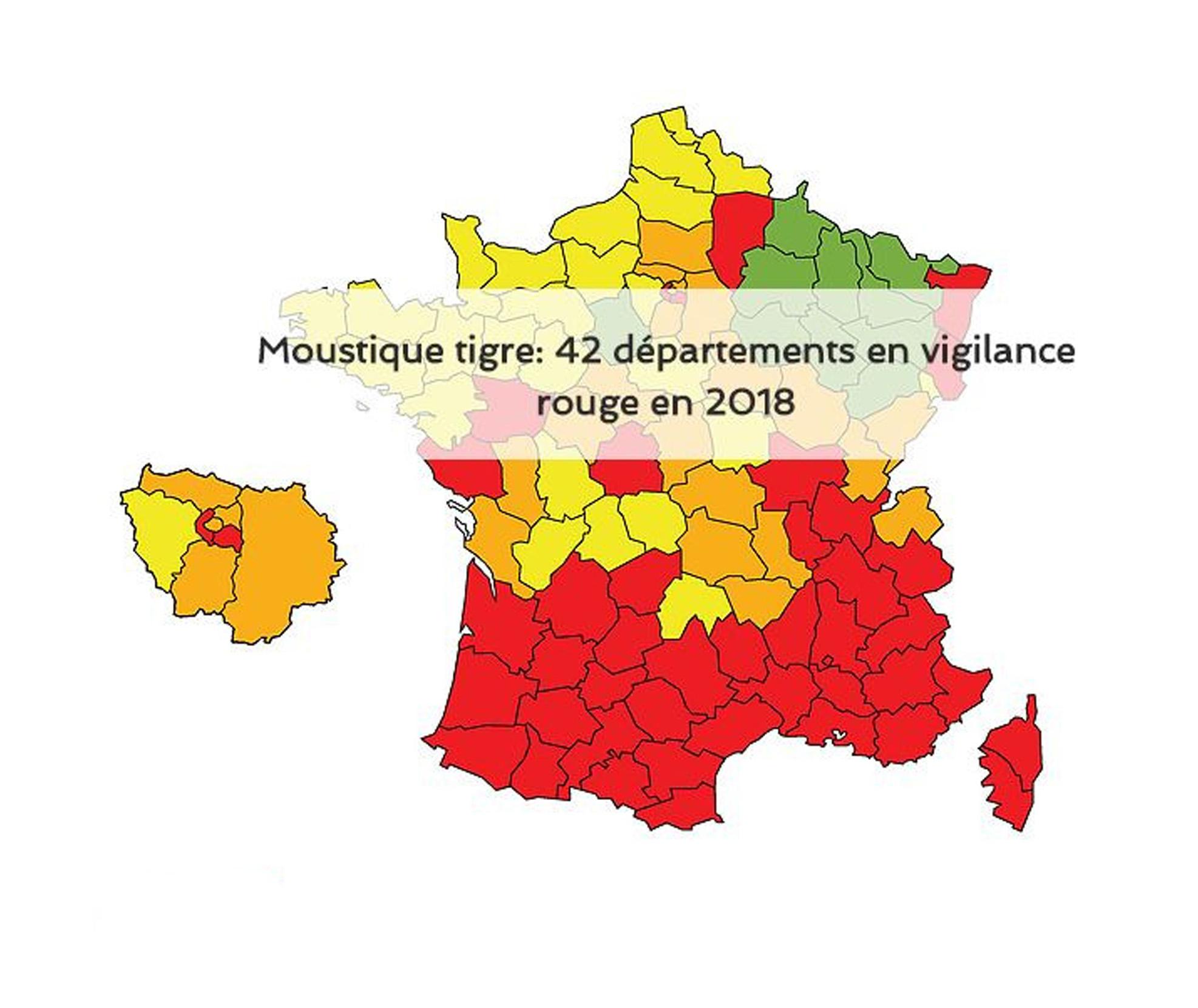 Carte Du Paludisme Dans Le Monde - Vigilance - Moustiques intérieur Combien De Region En France 2017