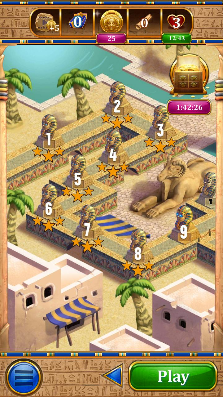 Carte Du Pharaon - Jeu De Cartes Solitaire Gratuit Pour tout Jeux Gratuit De Village