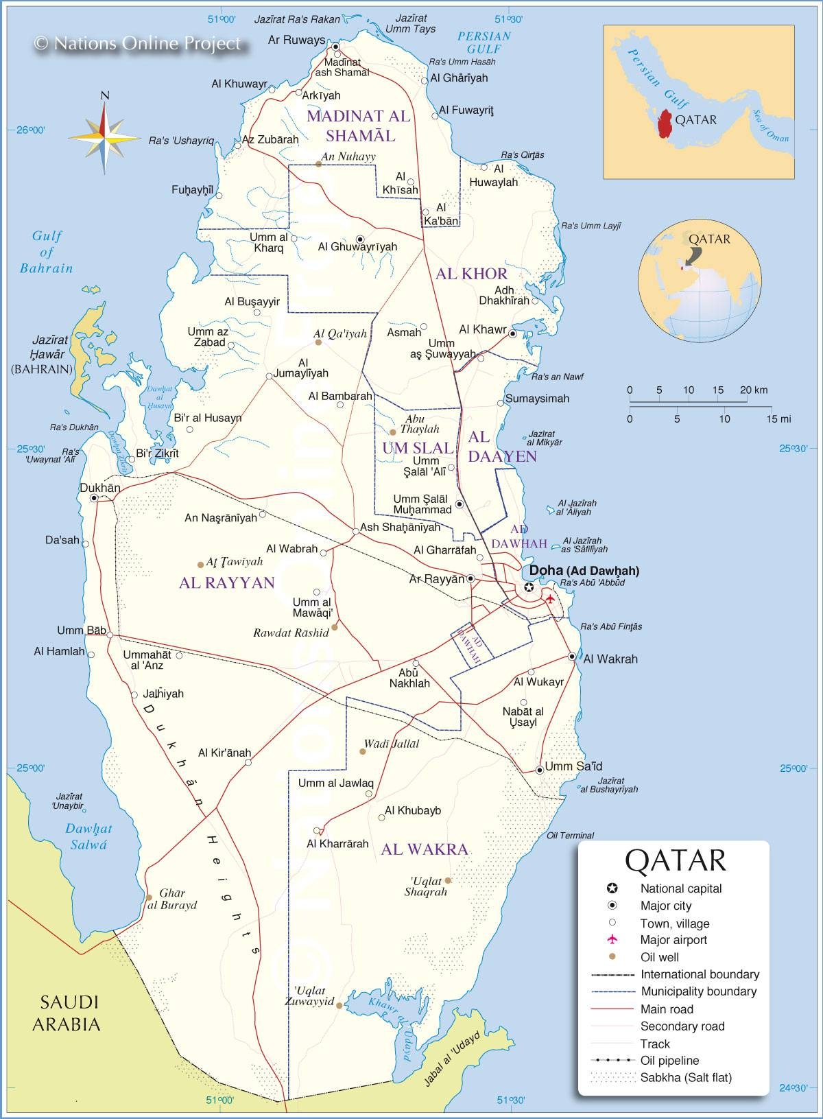 Carte Du Qatar - Plusieurs Cartes Du Pays Du Moyen-Orient dedans Carte De L Europe Avec Pays