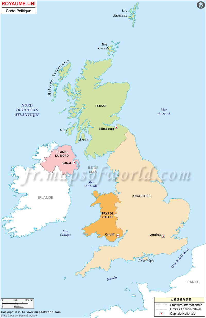 Carte Du Royaume-Uni, Carte Du Royaume-Uni, Carte De Comté pour Carte De France Grande Ville