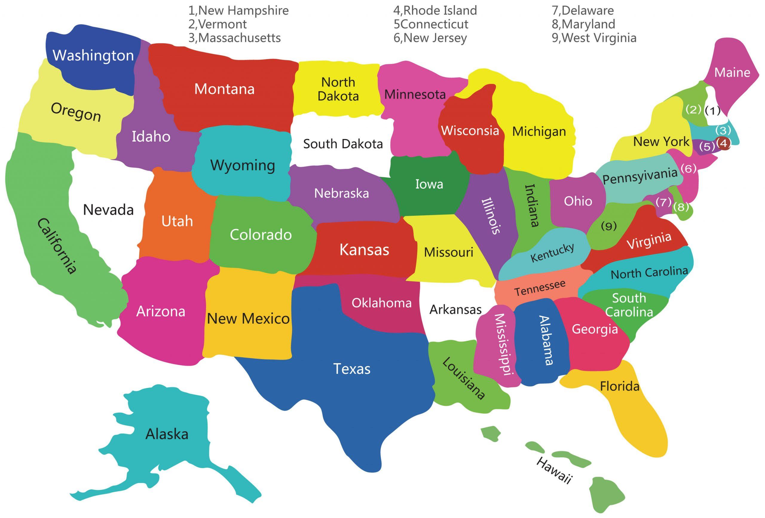 Carte États-Unis Vierge Régions, Carte Vierge Des Régions destiné Carte Etat Amerique