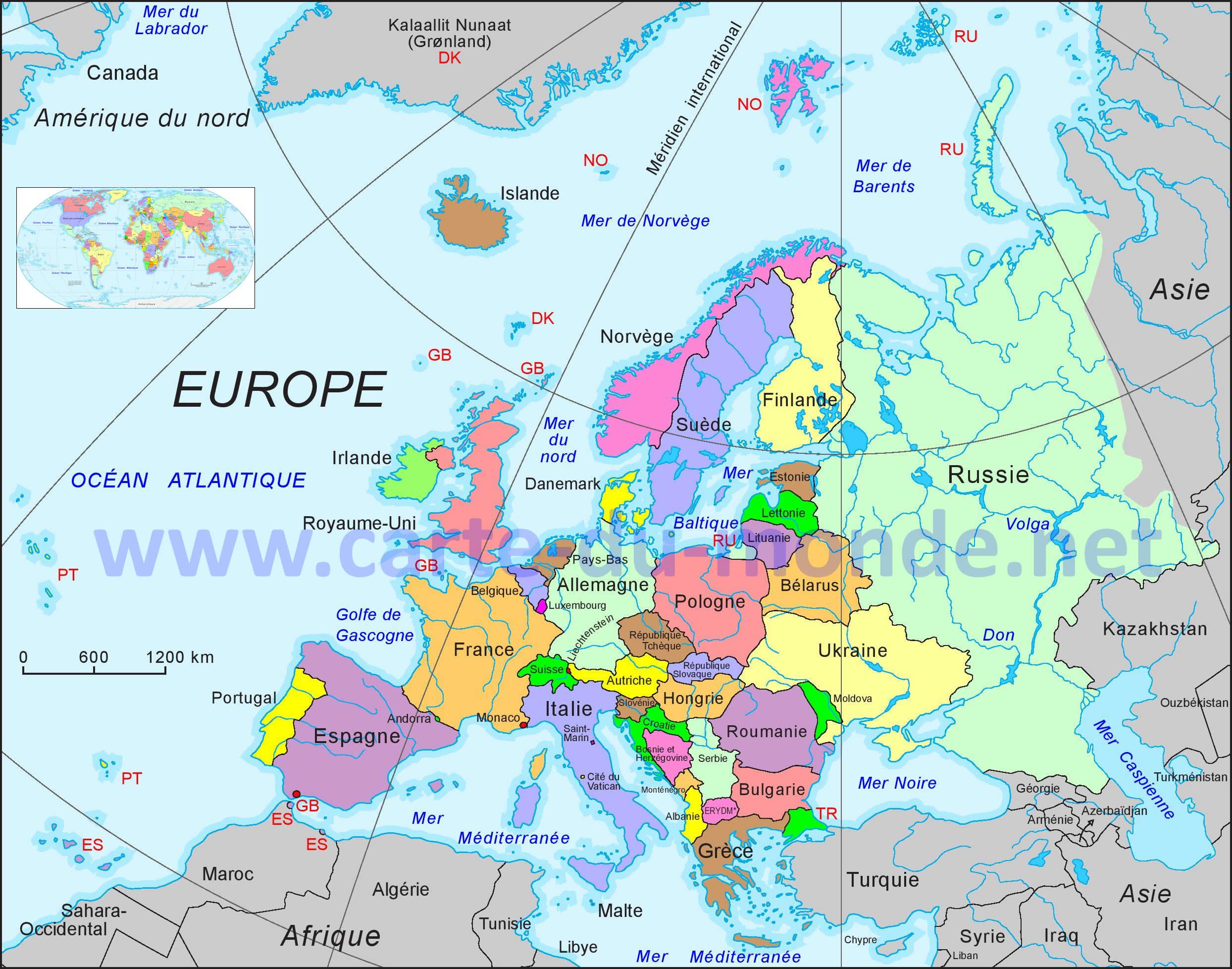 Carte Europe, Carte Du Monde pour Drapeaux Européens À Imprimer
