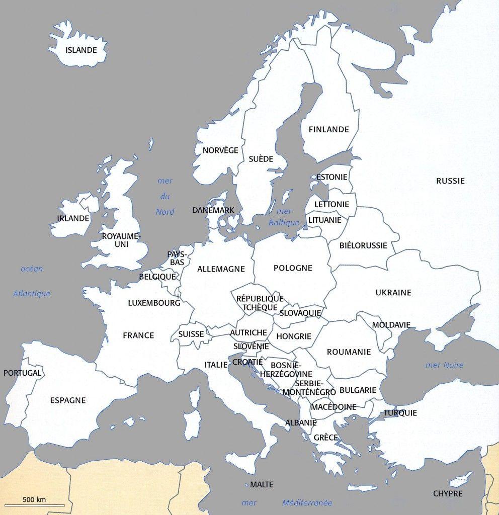 Carte Europe | Carte Europe, Carte Europe Vierge Et Géographie concernant Carte Europe Vierge