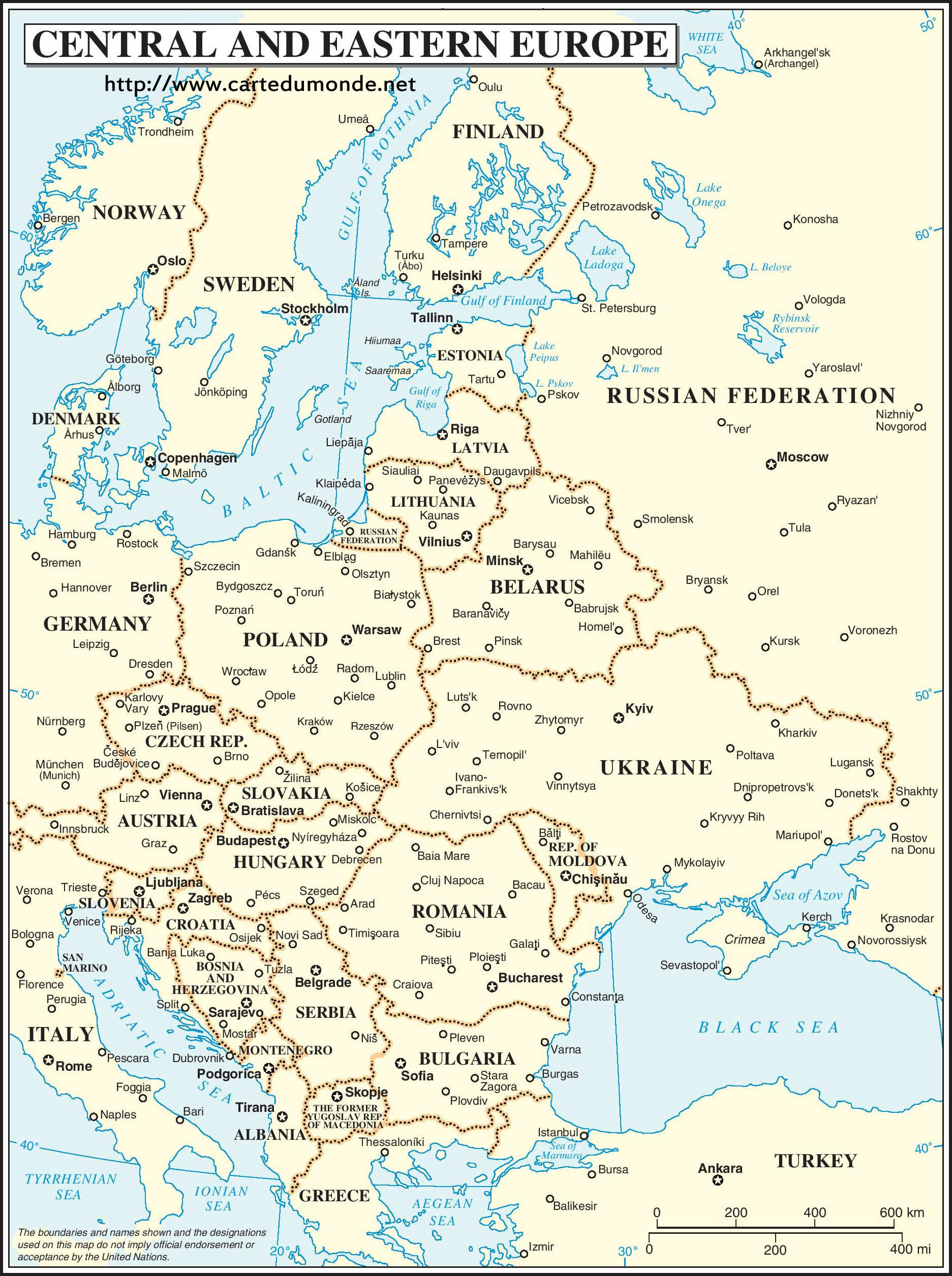 Carte Europe Centrale Et Orientale , Carte Du Monde pour Carte De L Europe À Imprimer