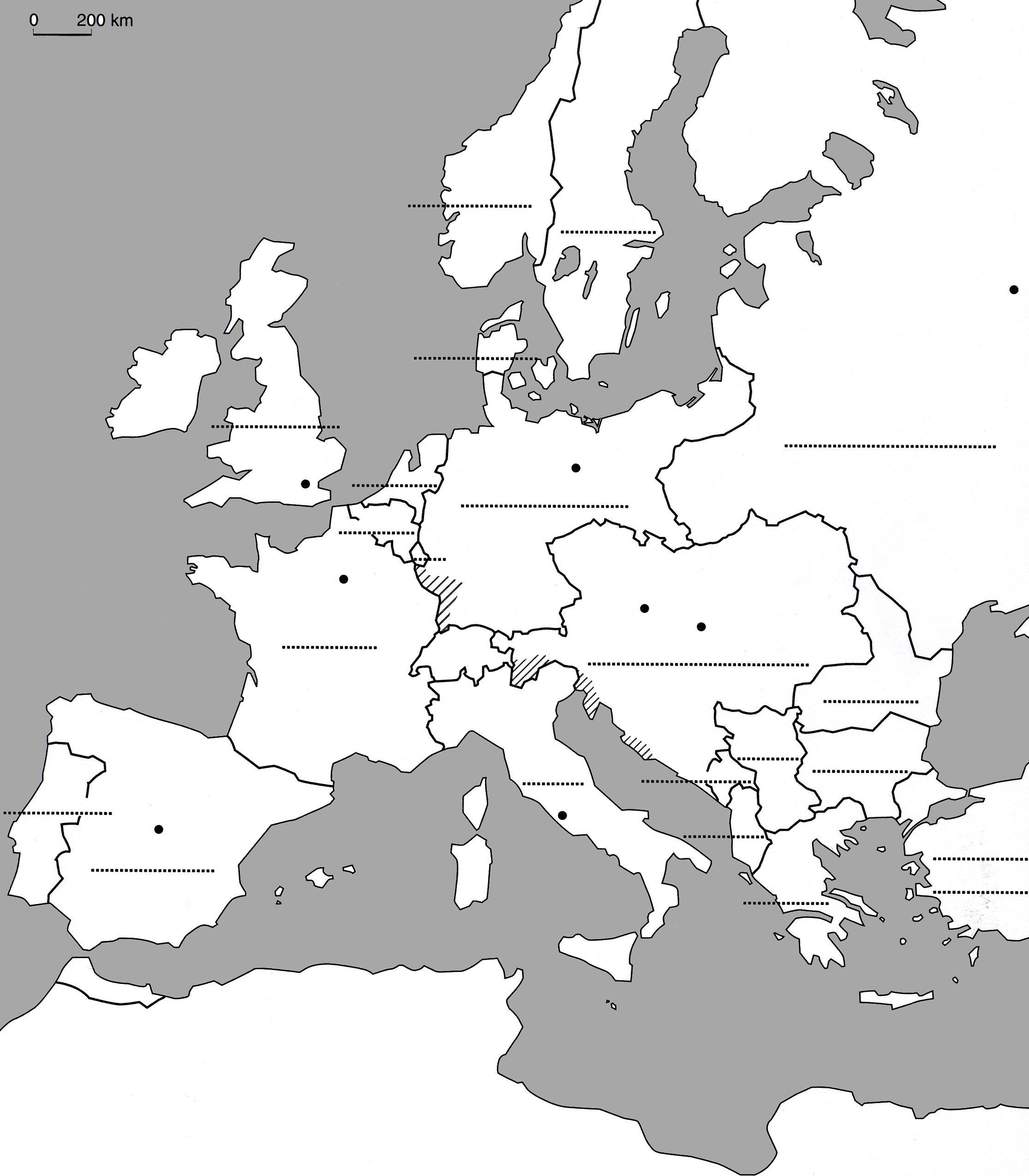 Carte Europe Cm1 À Compléter | My Blog concernant Carte Europe Vierge