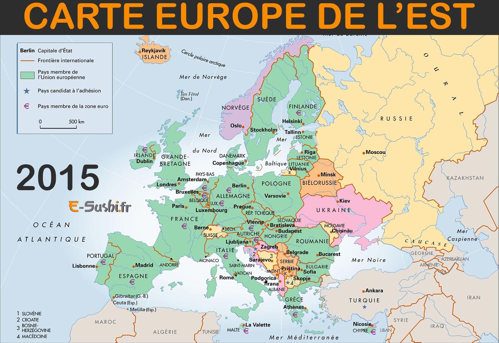 Carte Europe De L'est - Images Et Photos - Arts Et Voyages intérieur Carte Europe Capitales Et Pays