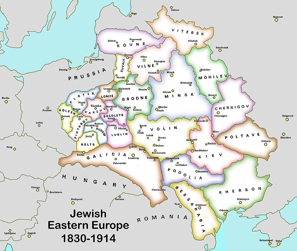 Carte: Europe De L'est Juive 1830-1914 » Par Uncleshlomo pour Carte Europe De L Est