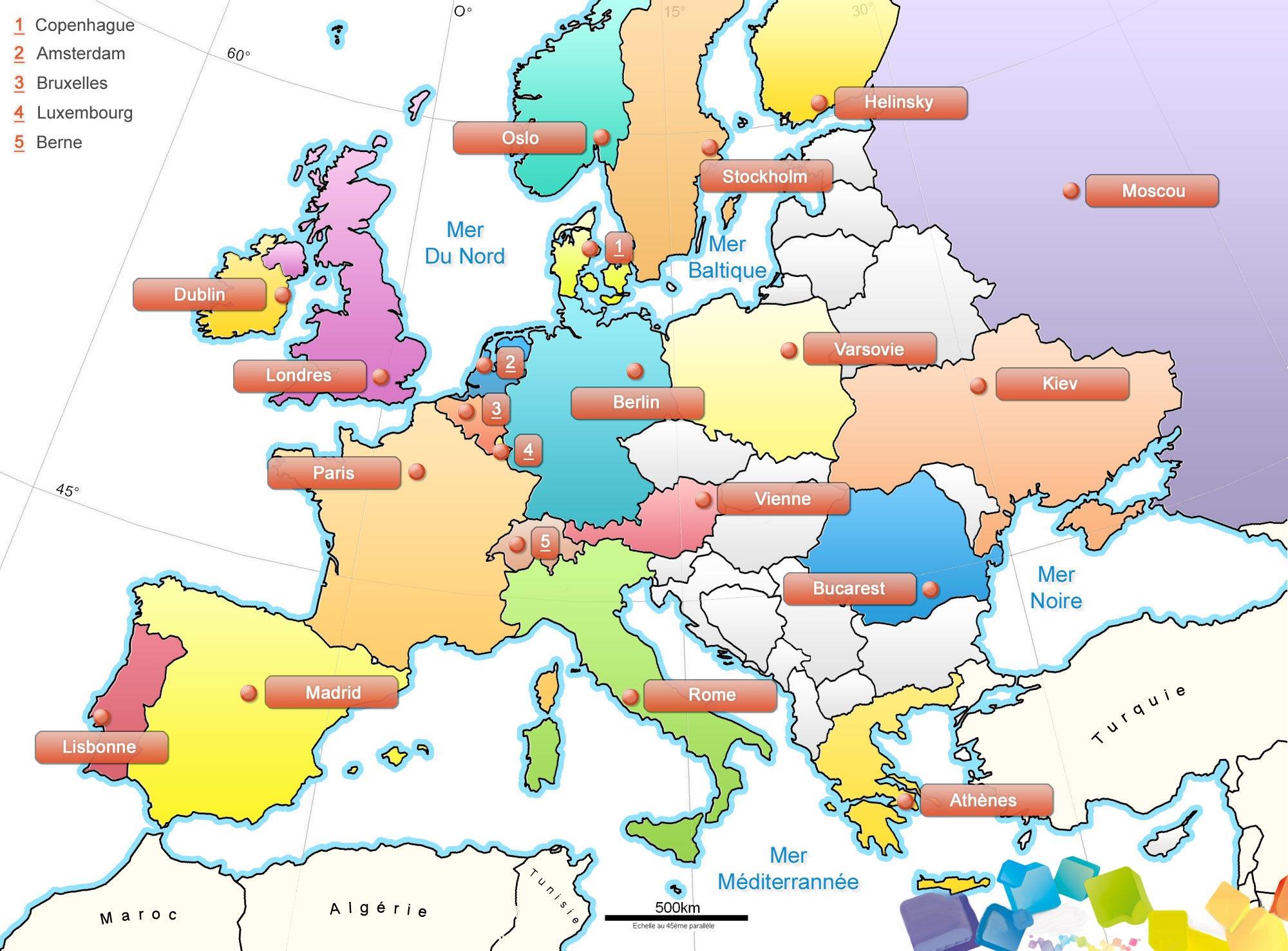 Carte Europe Images Et Photos » Vacances - Arts- Guides Voyages avec Carte Vierge De L Union Européenne