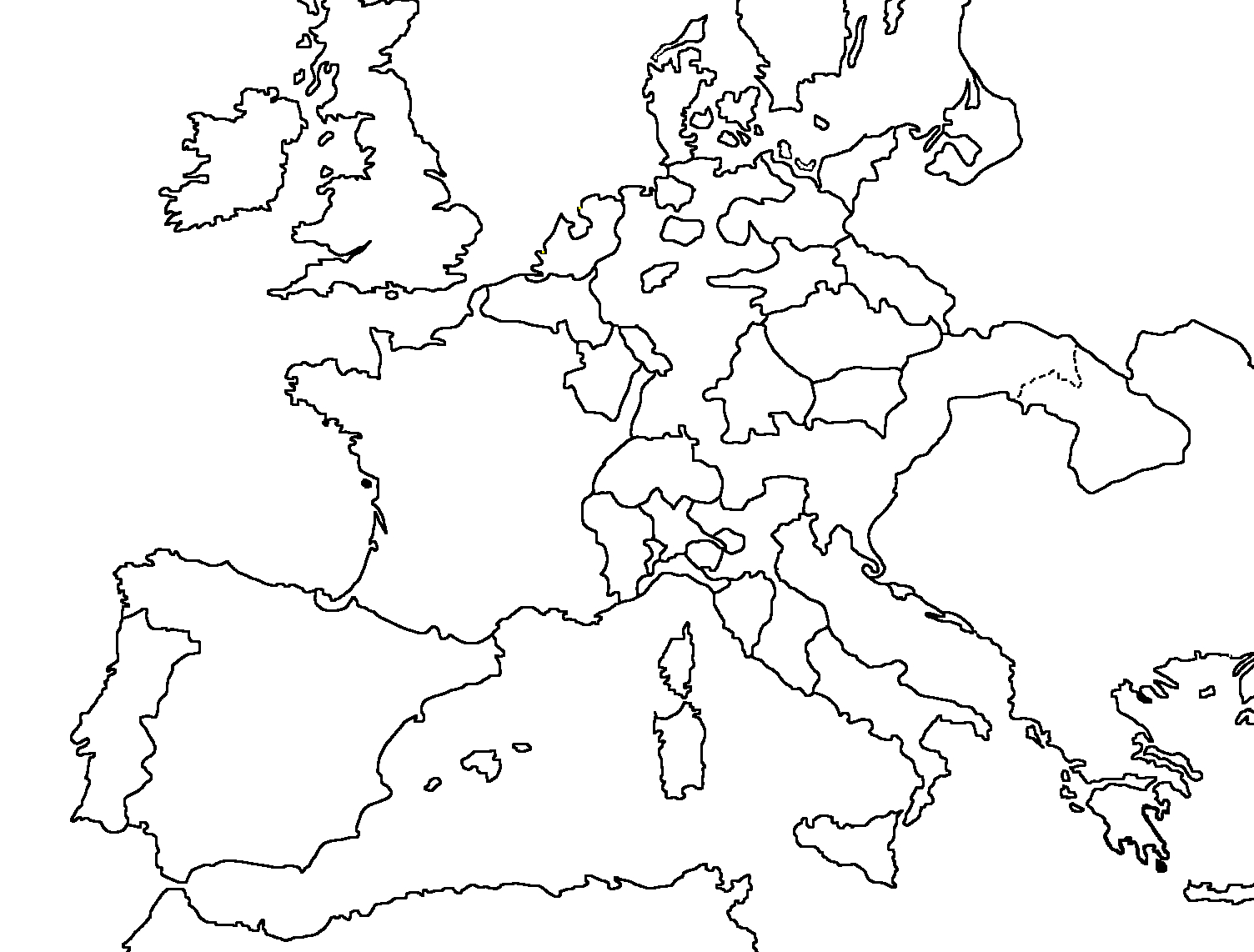 Carte Europe Vierge Png 4 » Png Image avec Carte De L Europe Vierge