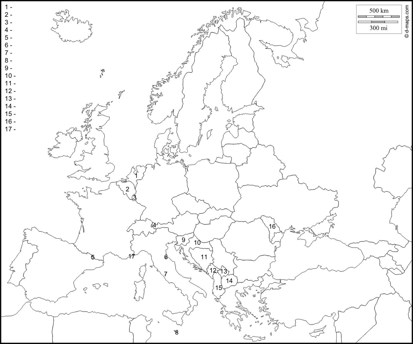 Carte Europe Vierge Png 7 » Png Image concernant Carte De L Europe Vierge