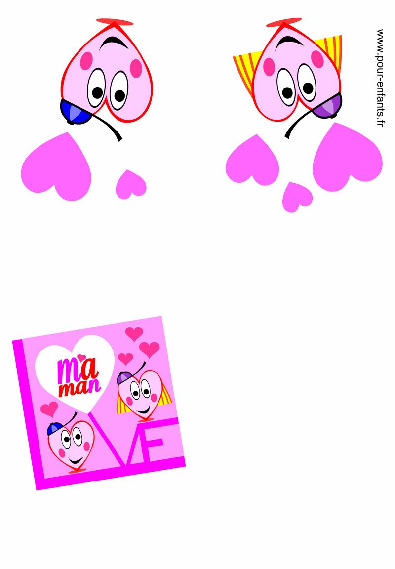 Carte Fete Des Mamans Fête Des Mères Love Fete Des Mamans à Carte A Imprimer Fete Des Meres