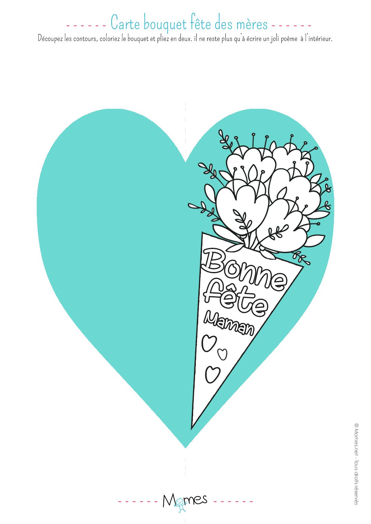 Carte Fête Des Mères À Imprimer - Momes pour Carte A Imprimer Fete Des Meres