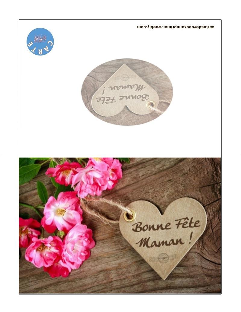 Carte Fête Des Mères Imprimer Gratuitement - Cartes De Voeux dedans Carte Bonne Fete Maman Imprimer