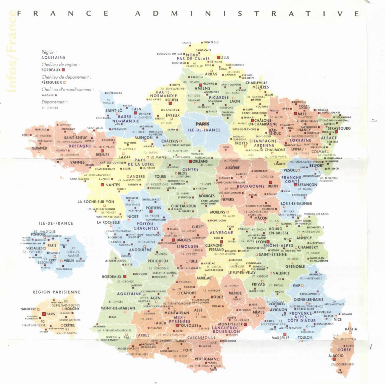 Carte France, Carte De France tout Carte De France A Imprimer
