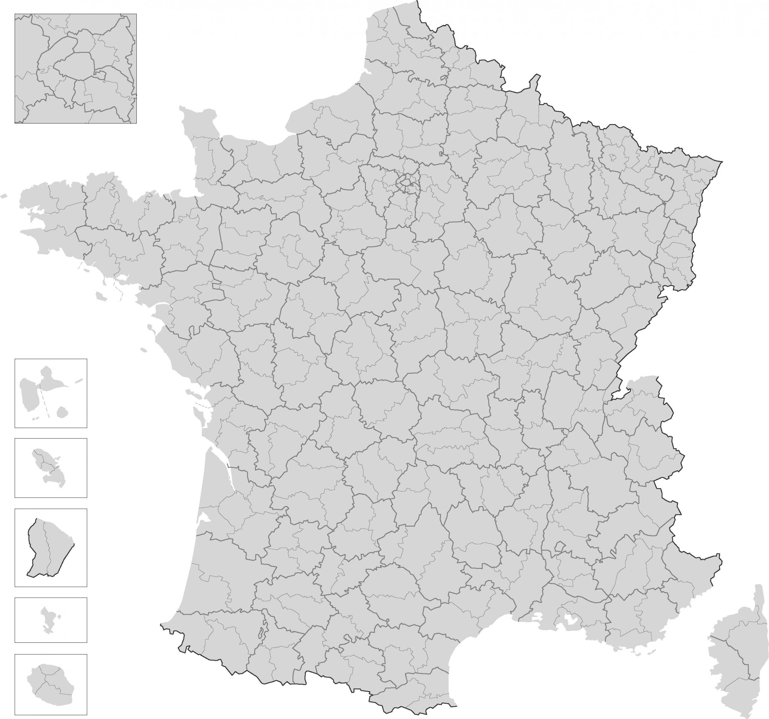 Carte France Departement à Carte Département Vierge