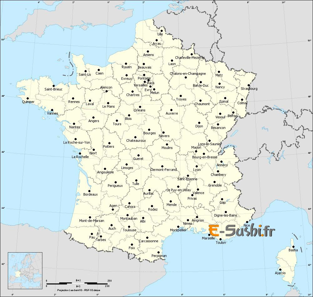 Carte France Et Italie à Carte De La France Avec Ville
