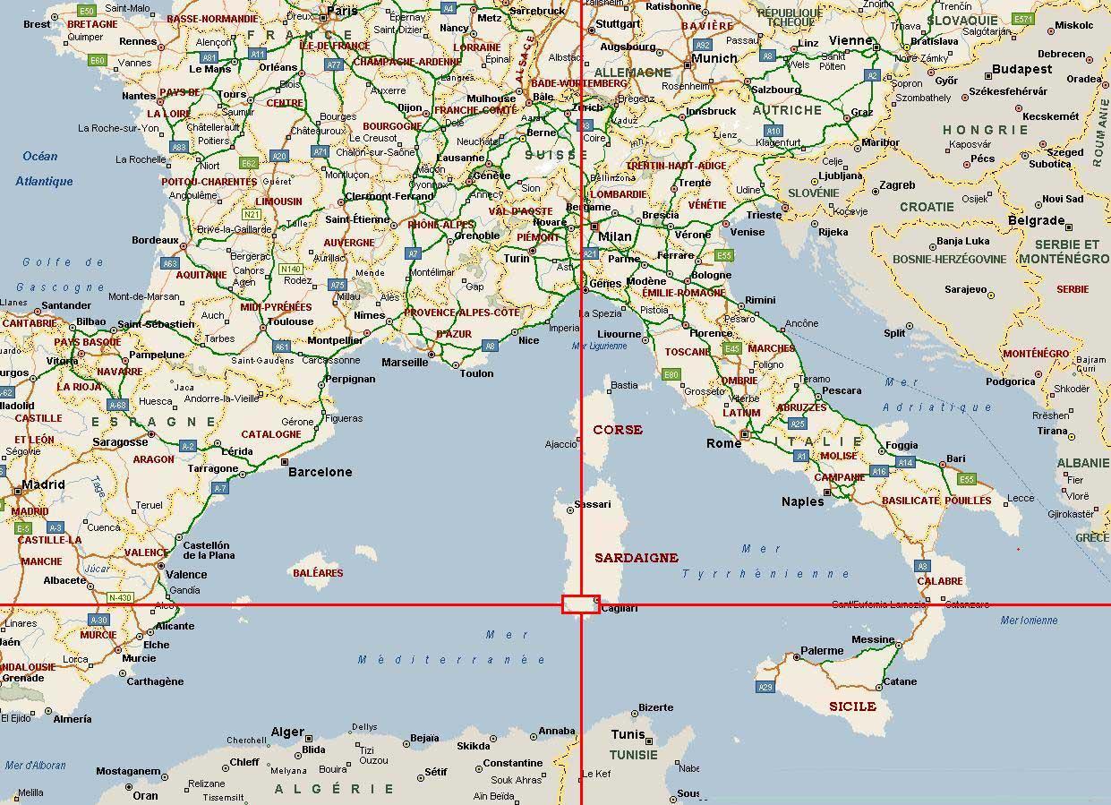 Carte France - Italie - Arts Et Voyages avec Carte Geographique Du France