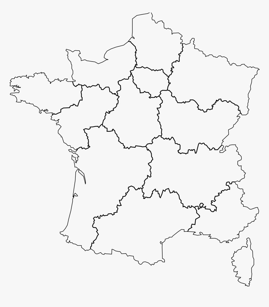 Carte France Png - Carte France Et Région Png, Transparent tout Liste Region De France