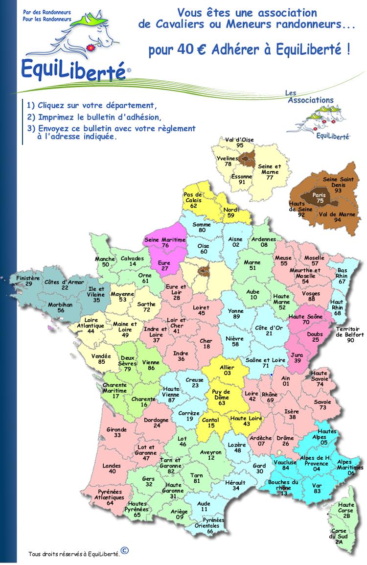 Carte-France_Adhesions-Asso_800 encequiconcerne Carte Avec Departement