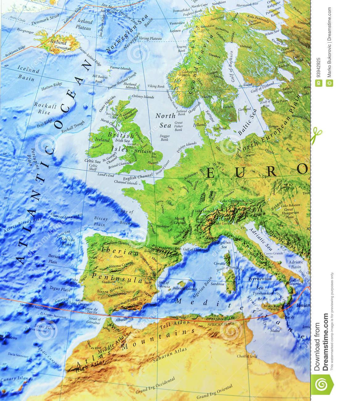 Carte Géographique De Fin De L'europe Image Stock - Image Du à Carte Géographique Europe