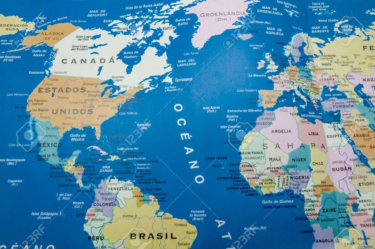 Carte Géographique De L'amérique Et L'europe serapportantà Carte Géographique De L Europe