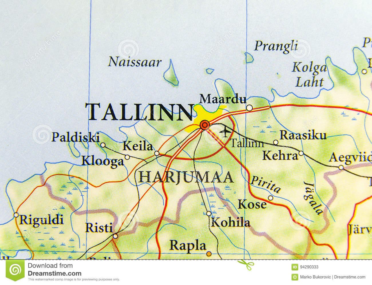Carte Géographique De Pays Européen Estonie Avec La Capitale à Carte De L Europe Avec Capitale