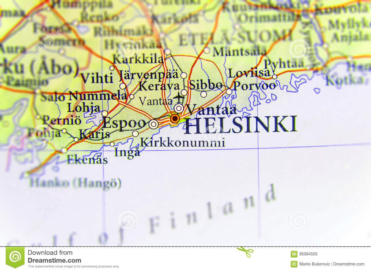 Carte Géographique De Pays Européen Finlande Avec La destiné Carte De L Europe Et Capitale