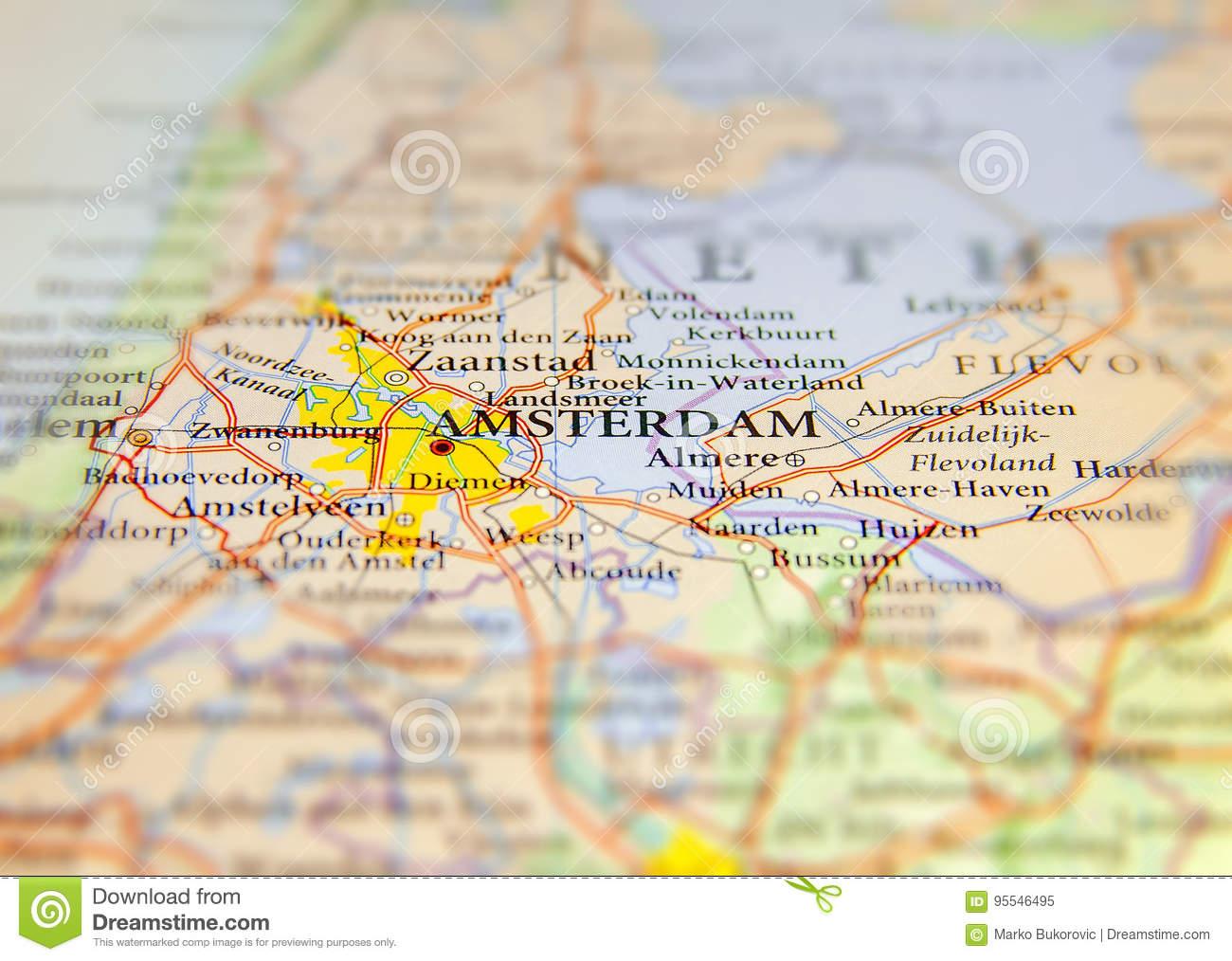 Carte Géographique De Pays Européen Pays-Bas Avec La dedans Pays Et Capitales D Europe
