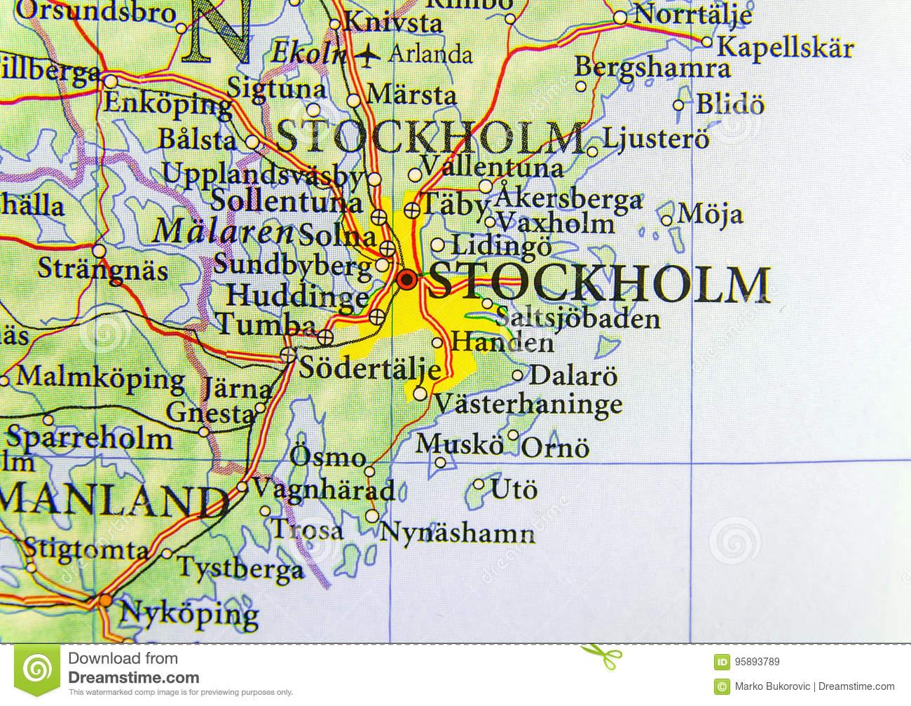 Carte Géographique De Pays Européen Suède Avec La Capitale encequiconcerne Carte De L Europe Et Capitale