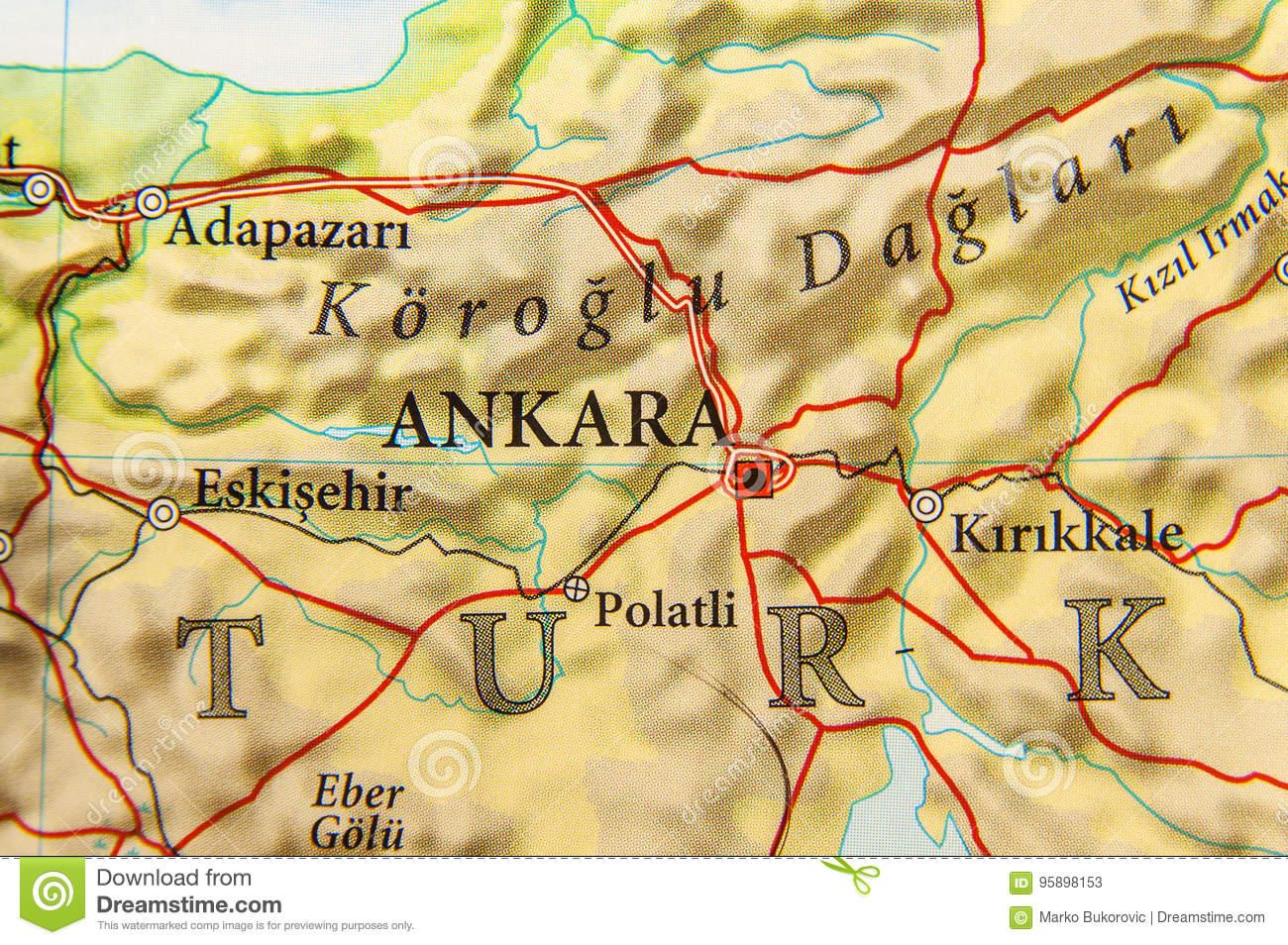 Carte Géographique De Pays Européen Turquie Avec La Capitale intérieur Carte De L Europe Et Capitale