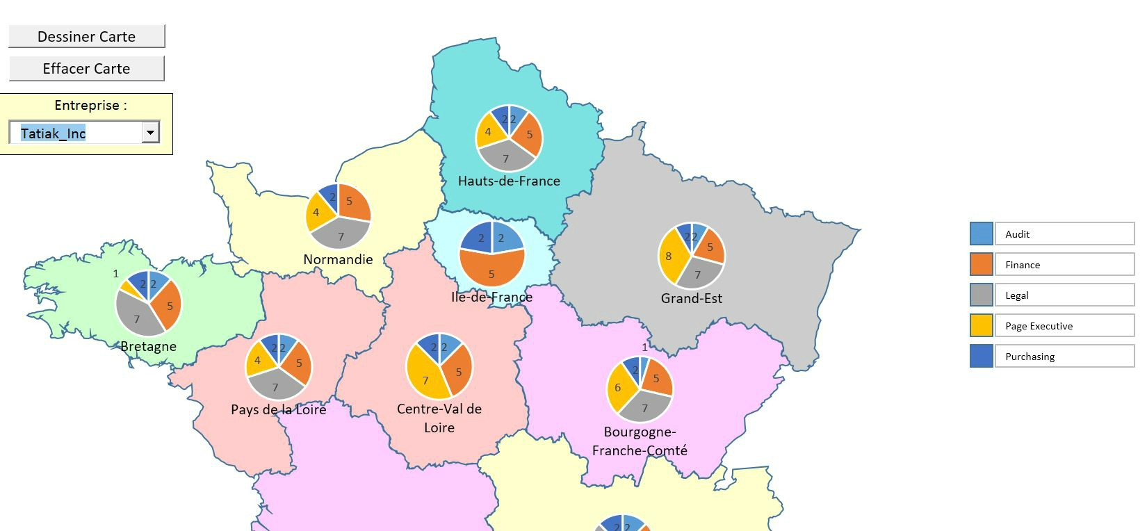 Carte Géographique De Répartition - Tatiak intérieur Carte Geographique Du France