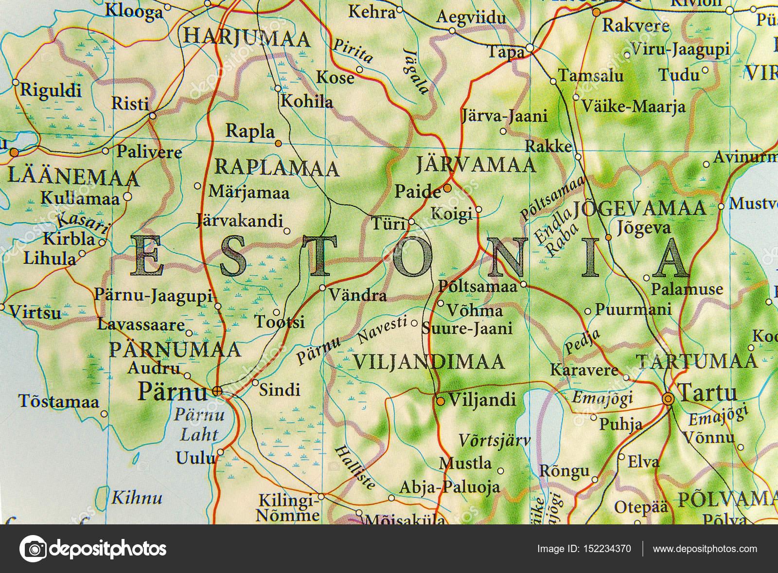 Carte Géographique Des Pays D'europe Estonie Aux Villes De destiné Carte Géographique De L Europe