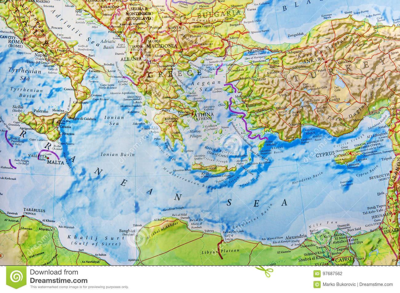 Carte Géographique D'une Partie De L'europe Photo Stock tout Carte Géographique Europe