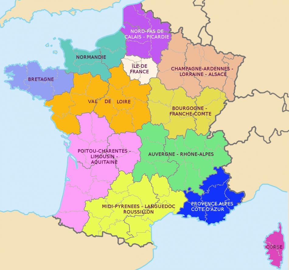 Carte Grise: Nouvelles Régions, Nouvelles Taxes concernant Nouvelles Régions Carte